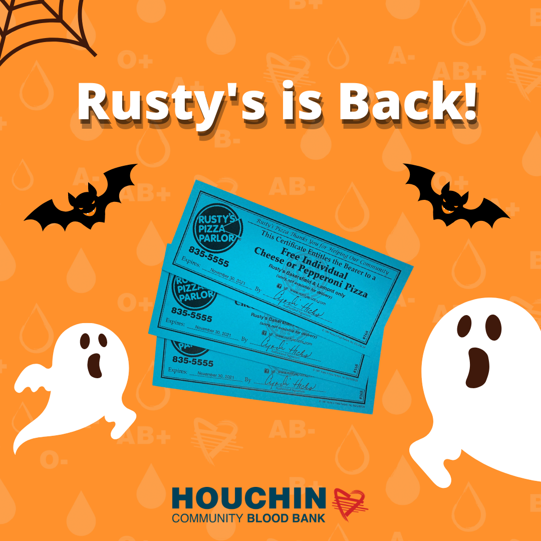 announcing Rusty's Pizza Coupons are Back!